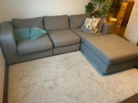 3 SEATER SOFA WITH FOOTATALL