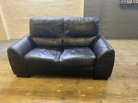 VERY COMFY BLACK SOFA IN LEATHER 2 seater