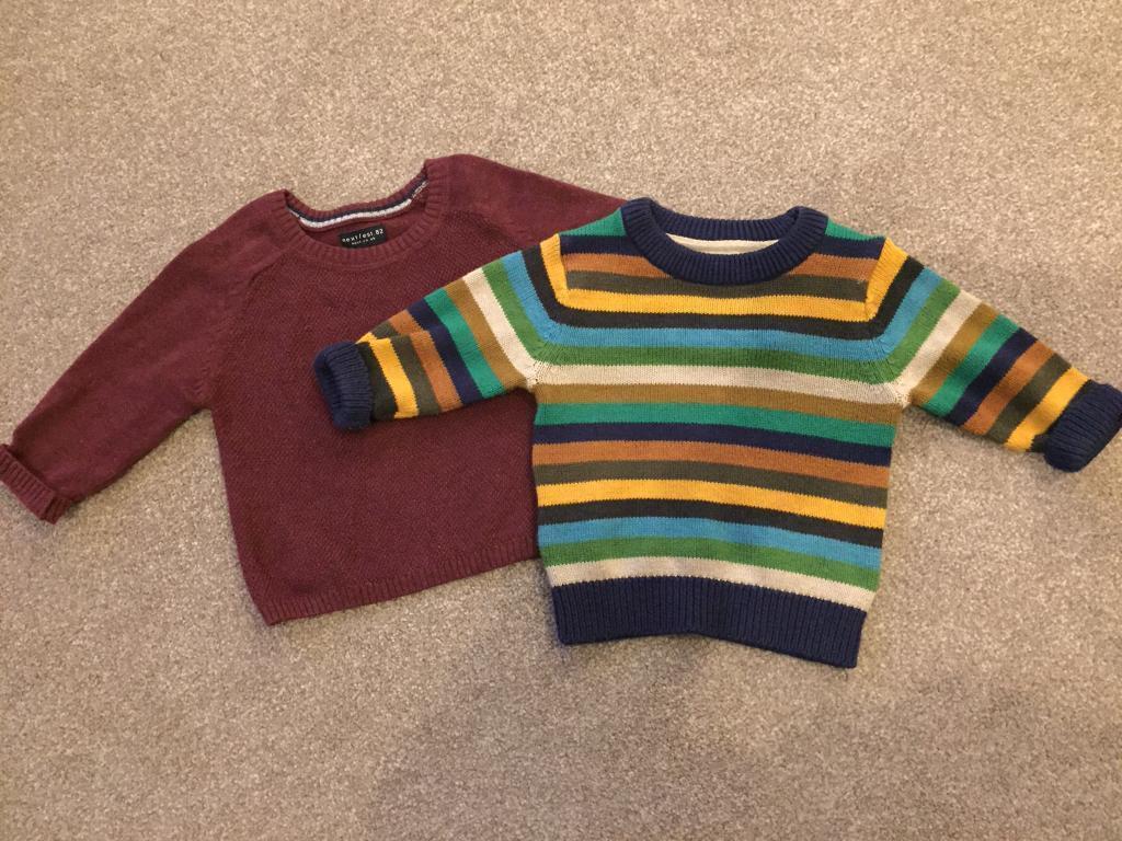 2 Next jumpers, 3-6 months