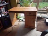 Second-hand desk & chair.
