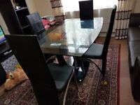 Dining table with 6 chair for sale urgently