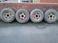 land rover or discovery wheels with tyres