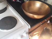 hammered copper fruit bowl
