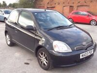 TOYOTA YARIS 1.0 VVT-i 16v GLS 3DR BLACK,HPI CLEAR,7 MONTHS M.O.T,ALLOYS,A/C,AUX,POWER STEERING