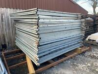 Used ~ Solid Hoarding Fencing Panels