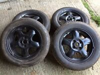 4x100 alloys with good tyres 175/65r15