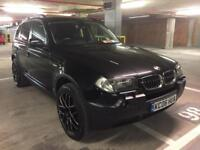 2006 bmw x3 3.0 d se auto 1 off to doe for spec blk on blk heated leather satnav tinted pdc lady own