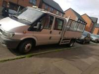 Ford transit twin cab high sided tipper 2002