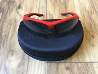Endura cycling glasses with 3 lenses and case in good condition.
