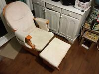 maternity chair - rocking nursing chair and stool ideal for feeding baby
