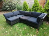IKEA Kungsholmen Rattan Garden & Patio Furniture Set. Used. V. Good Condition. Collection Only.