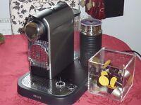 Nespresso CitiZ Coffee with Aeroccino   Krups   Excellent Condition