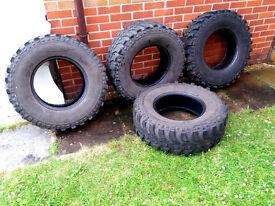4 x Insa Turbo Special Track Off Road Mud/Snow/ Farm Tyres 265/75/R16 16 Inch- Discovery, Shogun