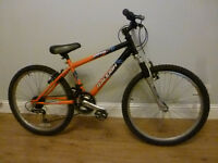 Boys Girls Raleigh Raptor Mountain Bike - Front Suspension, 18 Speed, 24 inch wheels, Age 8+