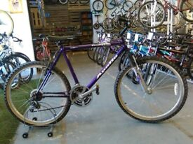 APOLLO PRODIGY BIKE 26 INCH WHEELS 21 SPEED FRONT SUSPENSION PURPLE GOOD CONDITION