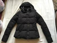 Only ladies padded jacket coat size XS black used good condition £5