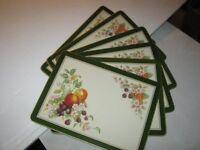 JOHNSON BROTHERS FRESH FRUIT Fruit Table Mats / place mats x 6