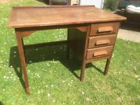 retro classic vintage old desk writing desk 1940s 1950s ? solid wood shabby chic