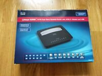 Linksys X3500 Dual-Band Wireless N750 Modem Router with ADSL2 - black. Hackney Wick Stratford Bow