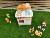 Hape Wooden Play Kitchen and Various Accessories