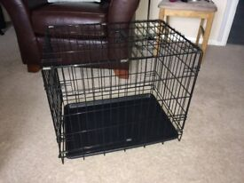 Collapsible Wire Pet Carrier in Good Condition - 50cm high x 43cm Wide x 60cm Deep