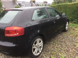Black 3 door Audi A3 drives great MOT Feb 19