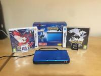 Nintendo 3DS + Pokemon X + Y + Black
