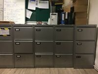 Grey office cabinets