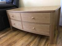 Natural Solid Oak Coffee Table Solid and heavy