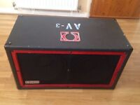 Guitar or Bass wedge cabinet Powered by Omega 2 x 12 Guitar made in USA