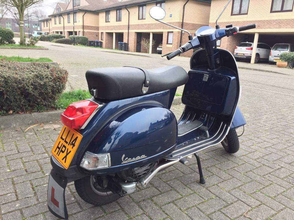 2014 piaggio vespa px 125 blue 2586 miles in edmonton london gumtree. Black Bedroom Furniture Sets. Home Design Ideas