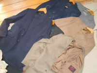 Job Lot Vintage Mens Suits, Blazer and Dinner Suit - Some 100% Wool - Jackets Approx 40 Long