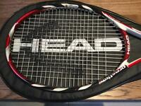 Head prestige microgel tennis racket and cover