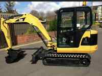 Paul's property services/ mini excavator and trailer for hire