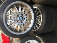 "18"" VOLKSWAGEN T5 / BMW ALLOY WHEELS / TYRES"