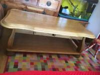 Solid oak coffee table