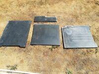 Black Cut Stone Floor Slabs & Matching Worktop