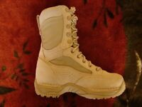"""***DANNER Desert TFX Rough-Out Hot Tan Women's Leather Military Boots 8"""" M Shoes***"""