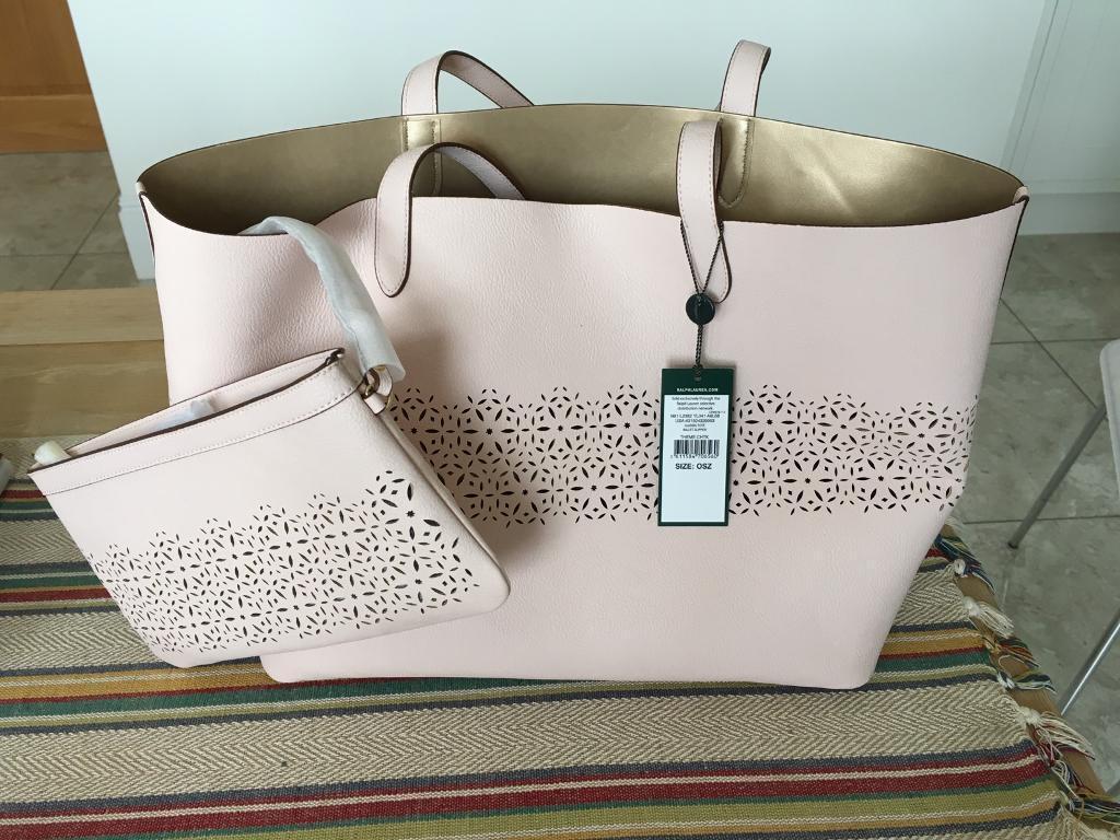 Lauren Ralph Lauren ladies classic tote ballet slipper hand/shoulder bag