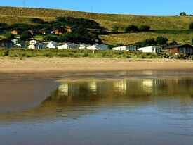 Own your own caravan in Scotland. Scottish Borders. Right next to sandy Beach. Pay monthly options.
