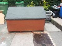 """Dog kennel large 52"""" long x 36w x 36h sturdy & waterproof felted for outdoors"""