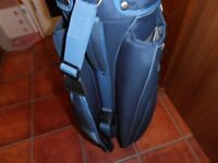 A Lynx . Golf CART BAG. in two toned blue ,