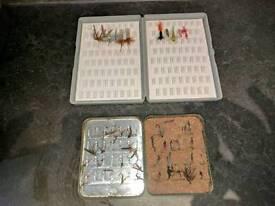 2 X BOXES OF FISHING FLIES