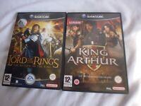 Nintendo GameCube Lord of the Rings King Arthur Game Bundle