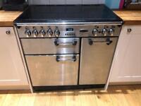 Rangemaster Professional 90 ceramic hob cooker