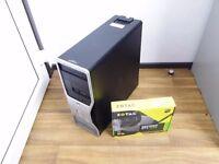 Gaming Computer PC - Tower - GTX 1050 Graphics, quad core, 8GB RAM