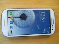 White 3G Samsung S3 Mobile phone in Good Condition