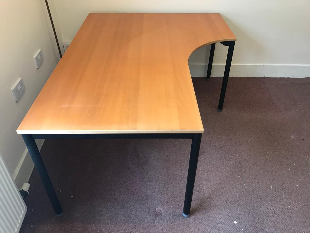 Curved Beechwood Desk Ikea