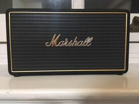 Marshall - Stockwell Portable Bluetooth Speaker with Flip Cover - Black