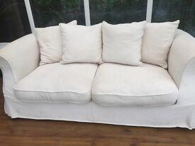 Cream Material Next Sofa